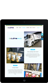 Culina Tablet Screen Capture - Featured Projects Solutely