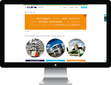 Culina Careers Desktop Monitor Screen Capture - Featured Projects Solutely