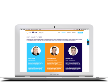 Culina Careers Macbook Screen Capture - Featured Projects Solutely