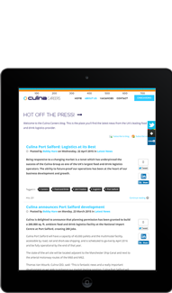 Culina Careers Tablet Screen Capture - Featured Projects Solutely